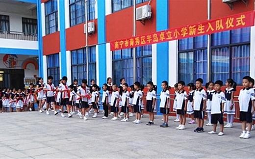 南宁市半岛卓立小学隆重举行新队员入队仪式